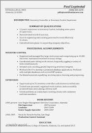 Administrative Resume Examples 2016 Awesome Inventory Format From Church 0d