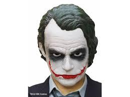 Halloween Half Mask Makeup by Batman The Joker Mask Costume Cosplay Halloween Party Replica Free
