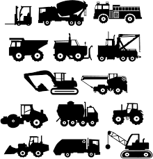 Construction Trucks Vol 1 And 2 Wall Vinyl Decals Art Graphics ...