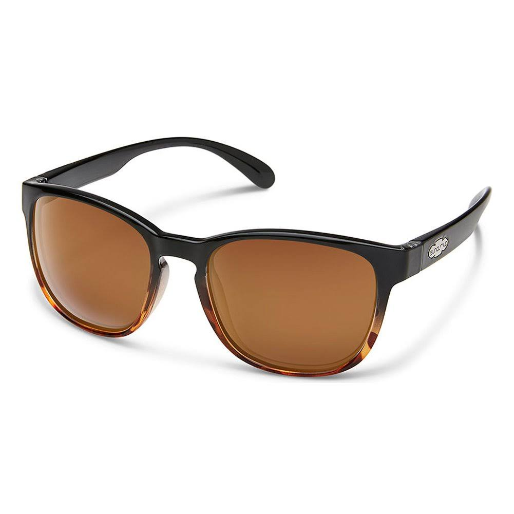 Suncloud Loveseat Sunglasses - Black Tortoise Fade - Brown Polarized