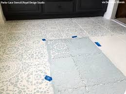 tips for painting bathroom tile with floor stencils royal design