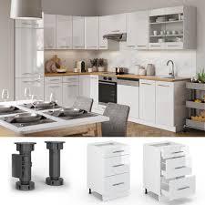vicco schubunterschrank 50 cm küchenschrank küchenschränke küchenunterschrank hochglanz fame line küchenzeile