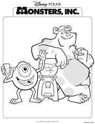 Monsters Inc Color Page Disney Coloring Pages Plate Sheetprintable Picture