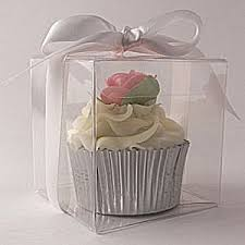 Clear Square Cupcake Boxes 80mm