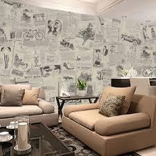 details zu retro zeitung wand aufkleber pvc selbstklebend tuch kunst decals wohnzimmer deko