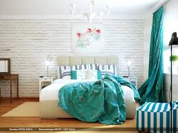 Bedroom With Turquoise Accents Fabulous Teal Feature Wall