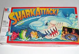 Vintage 1988 Shark Attack Board Game Milton Bradley
