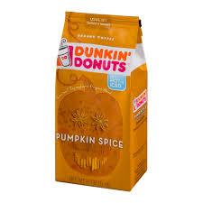 Pumpkin Iced Coffee Dunkin Donuts by Dunkin U0027 Donuts Pumpkin Spice Ground Coffee 11 Oz Walmart Com