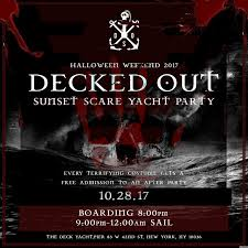 Halloween Horror Nights Express Pass After 10pm by Decked Out Sunset Scare Yacht Party Tickets Pier 83 New York