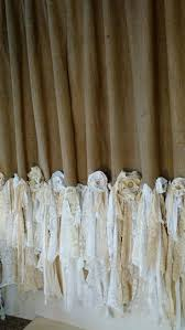 Anna Lace Curtains With Attached Valance by Best 25 Rag Curtains Ideas On Pinterest Scrap Fabric Curtains