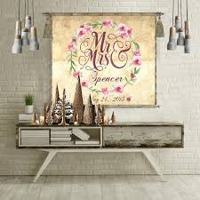 Wedding Gift Personalized Anniversary Wall Art Sign Guest Book Alternative For Bride Couple