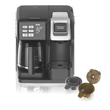 Amazon Hamilton Beach 49976 Coffee Maker Single Serve Full Pot Compatible With K Cup Packs Or Ground Programmable FlexBrew