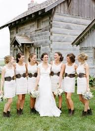 Bridesmaids In Belts And Boots