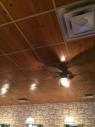 Fasade Drop Ceiling Tiles by Drop Ceiling Runners Using Ripped Paneling Very Cool I Think It