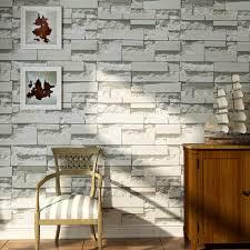 Brick Pattern 3D Textured Nonwoven Wallpaper Sticker Background Home Decor Sticker