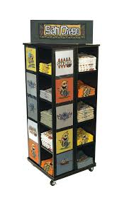 4 Sided T Shirt POP Retail Display With 20 Cubbies To Folded Shirts