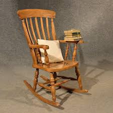 Antique Windsor Rocking Chair Large Beech Easy