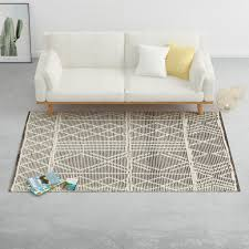 vidaxl teppich handgewebt wolle 80x150cm schwarz weiß