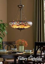 Beautiful Stained Glass Dining Room Light