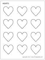 Free Printable Hearts To Color And Use For Crafts Learning Activities
