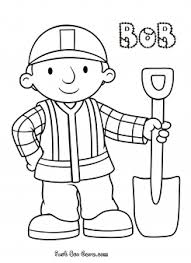 Print Out Bob The Builder Coloring In Pages