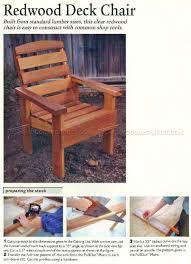 3079 Deck Chair Plans - Outdoor Furniture Plans ...