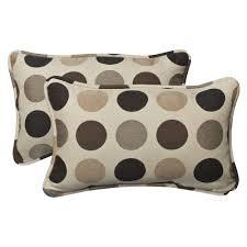Decorative Outdoor Lumbar Pillows by Decor U0026 Tips Outdoor Throw Pillows With Brown Beige Polka Dot