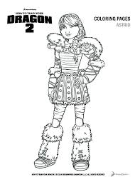 How To Train Your Dragon 2 Astrid Coloring Pages