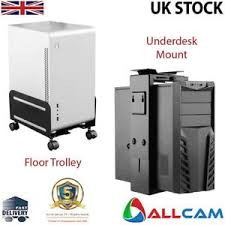 allcam cpu holder mobile pc computer floor stand trolley or