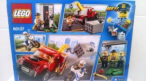 Lego City 60137 Tow Truck + 60136 Police Starter + 853570 Minifigure ...