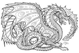 Realistic Dragon Coloring Pages For Adults Page Kids