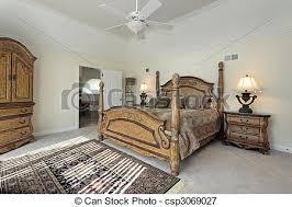chambre a coucher en bois chambre à coucher bois maître meubles bois maître image