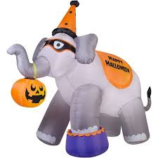 gemmy airblown inflatable 9 x 11 giant elephant halloween