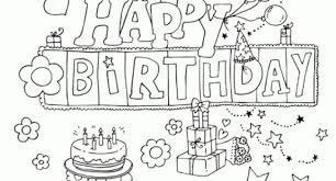 Amazing Happy Birthday Printable Coloring Pages To Motivate Color