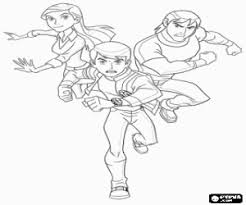 Ben 10 With Friends Gwen And Kevin Coloring Page Printable Game