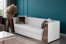 lidya wohnzimmer set lucca grau weiß moebel de