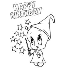 Tweety Birthday Coloring Page