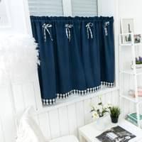scheibengardine küchengardine halbvorhang kurz küche fenster vorhang 74x61cm dunkelblau 74x90cm küche schlafzimmer badezimmer