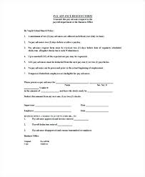 Payroll Advance Form Salary Request Full On Cash Agreement Template Money Lending Format L Outsourcing Contract