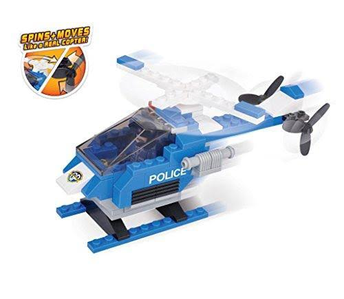 Brictek Police Hawk 2 In 1 Building Kit