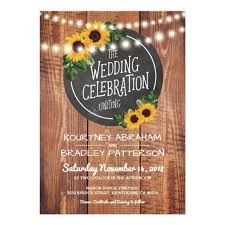 Sunflower Rustic String Lights Wedding