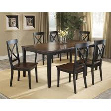 Appealing 7 Piece Black Dining Room Set With Cheap Sets Home Hold