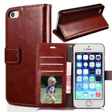 For Apple iPhone 5S 5 Case Wallet Card Slot PU Leather Case