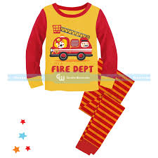Printed Long Pajamas: Fire Truck – The Cutier
