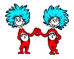 Thing 1 And 2 Black At Coloring Pages Dr Seuss