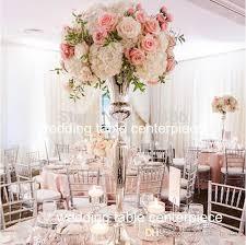2018 Elegant New Tall Sliver Trumpet Vase For Wedding Centerpiece Flower Stand Pillar From Pink House