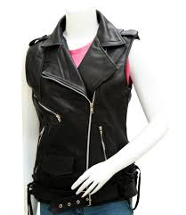 ladies leather vests leather jacket showroom