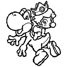Coloring Page Yoshi Video Games 15