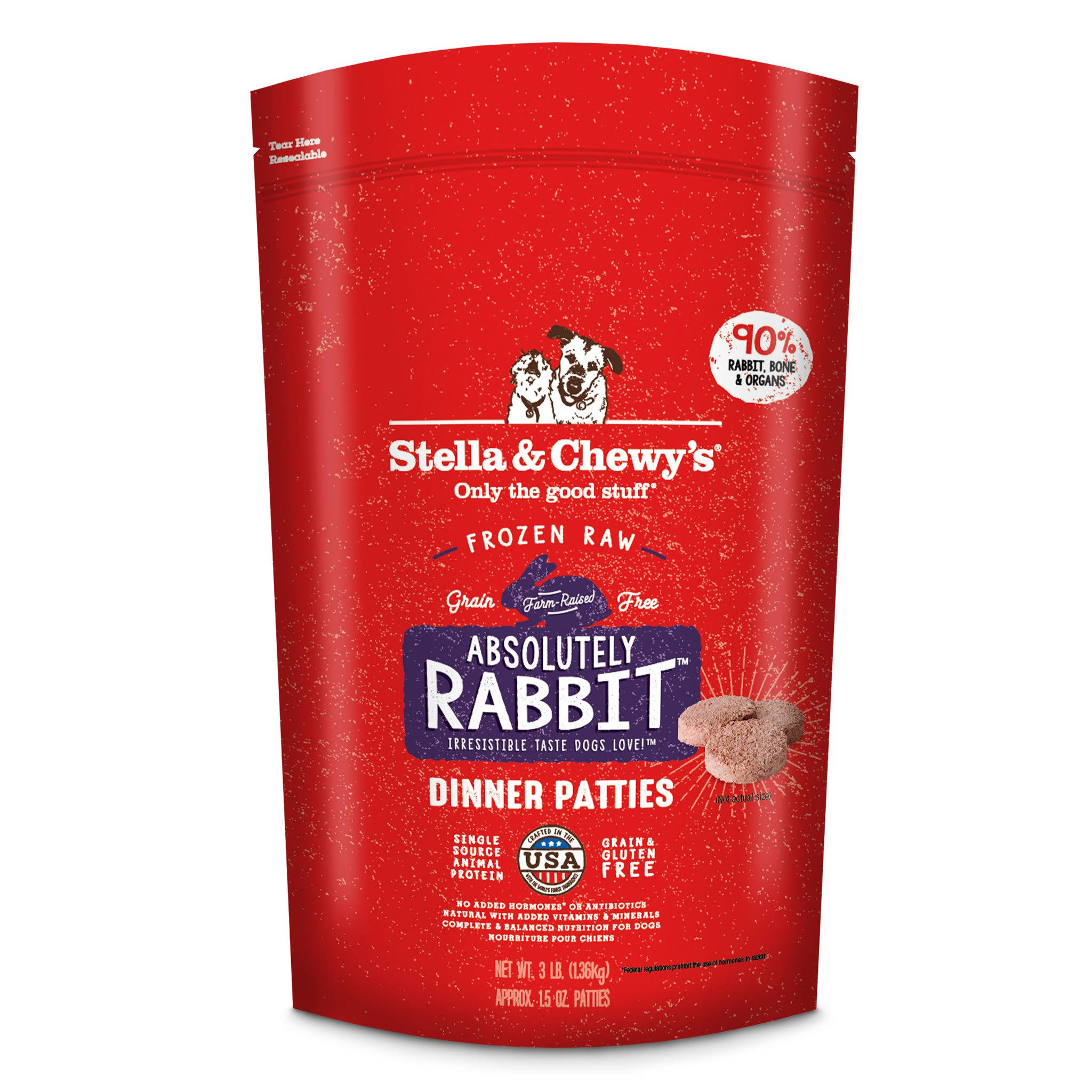 Stella & Chewy's Freeze Dried Dog Food - Rabbit, 1.36kg