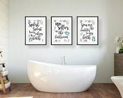 Funny Bathroom Art Etsy by Bathroom Wall Art Etsy